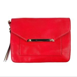 Stella & Dot Tia Red Crossbody Clutch Bag